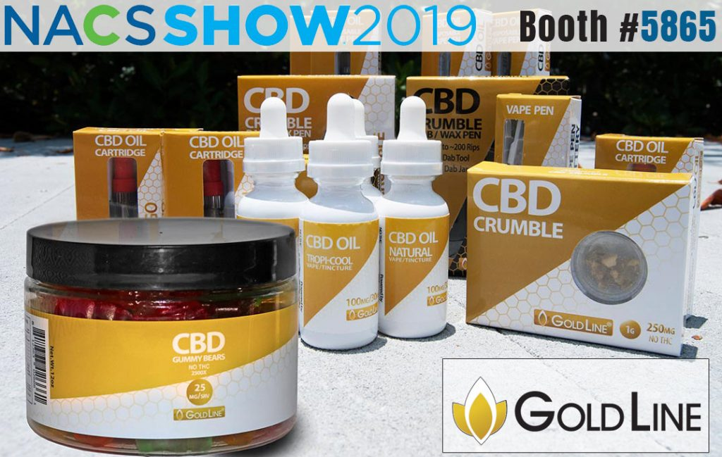 cbd goldline products on NACS 2019 show